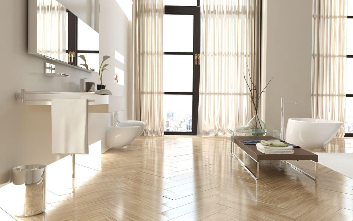 Luxury Curtains In Modern Washroom for Brilliant Home Decor Ideas
